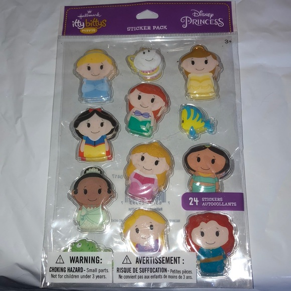 Hallmark itty bittys Disney Princess stickers nwt